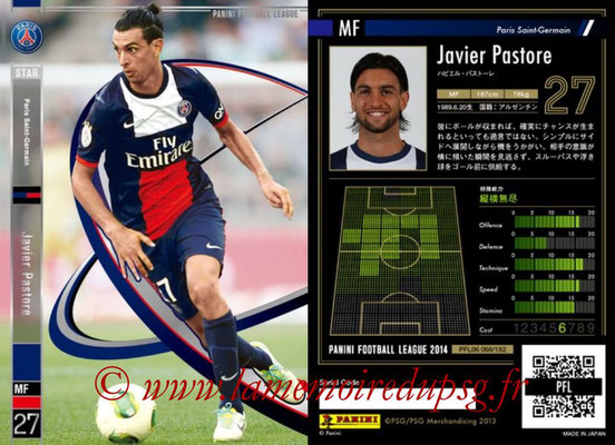 Panini Football League 2014 - PFL06 - N° 068 - Javier PASTORE (Paris Saint-Germain) (Star)
