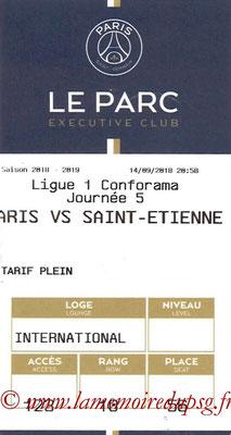 Tickets  PSG-Saint Etienne  2018-19