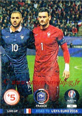 Panini Road to Euro 2016 Cards - N° 090 - Equipe France 3