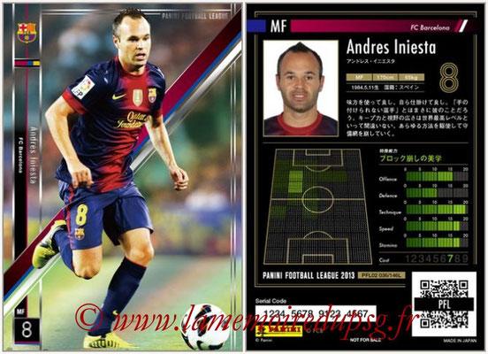Panini Football League 2013 - PFL02 - N° 036 - Andres Iniesta ( FC Barcelona )