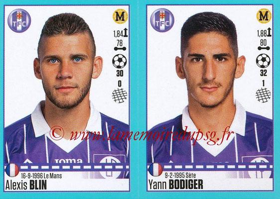 2016-17 - Panini Ligue 1 Stickers - N° 830 + 831 - Alexis BLIN + Yann BODIGER (Toulouse)