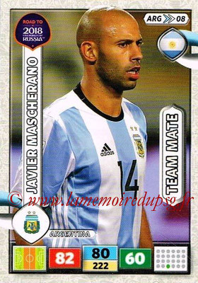 2018 - Panini Road to FIFA World Cup Russia Adrenalyn XL - N° ARG08 - Javier MASCHERANO (Argentine)