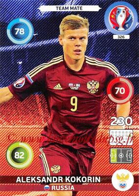 Panini Euro 2016 Cards - N° 326 - Aleksandr KOKORIN (Russie)