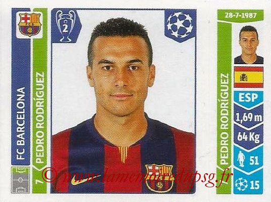 2014-15 - Panini Champions League N° 434 - Pedro RODRIGUEZ (FC Barcelone)