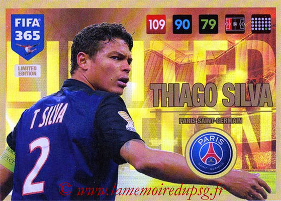 2016-17 - Panini Adrenalyn XL FIFA 365 - N° LE18 - Thiago SILVA (Paris Saint-Germain) (Limited Edition)