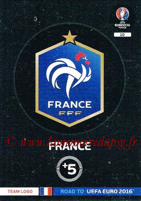 Panini Road to Euro 2016 Cards - N° 010 - Ecusson France