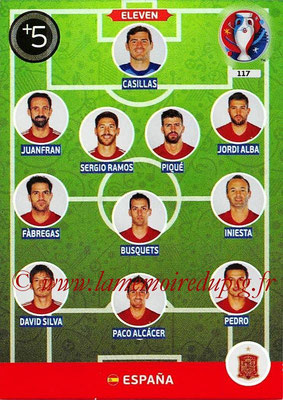 Panini Euro 2016 Cards - N° 117 - Équipe Type d' Espagne