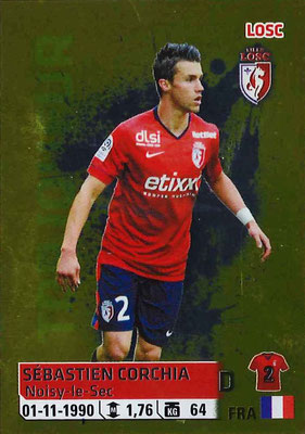 2014-15 - Panini Ligue 1 Stickers - N° 168 - Sébastien CORCHIA (Lille OSC)