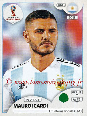 2018 - Panini FIFA World Cup Russia Stickers - N° 287 - Mauro ICARDI (Argentine)