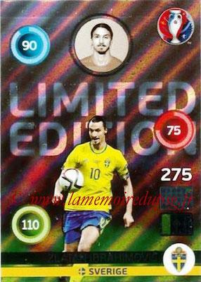 Panini Euro 2016 Cards - N° LE85 - Zlatan IBRAHIMOVIC (2012-??, PSG > 2016, Suède) (Limited Edition) (Shiny)