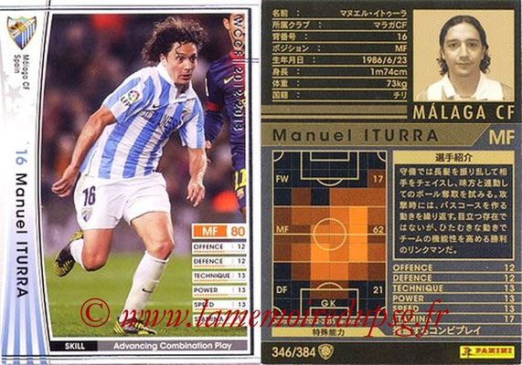 2012-13 - WCCF - N° 346 - Manuel ITURRA (Malaga CF)