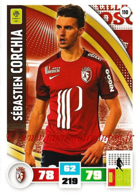 2016-17 - Panini Adrenalyn XL Ligue 1 - N° 110 - Sébastien CORCHIA (Lille)