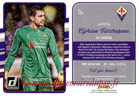 2016 - Panini Donruss Cards - N° 151 - Ciprian TATARUSANU (ACF Fiorentina)