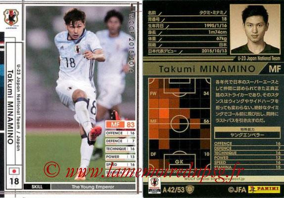 2015-16 - Panini WCCF - N° A42 - Takumi MINAMINO (Japon)