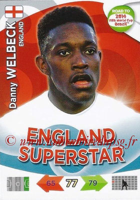 2014 - Panini Road to FIFA World Cup Brazil Adrenalyn XL - N° 070 - Danny WELBECK (Angleterre)