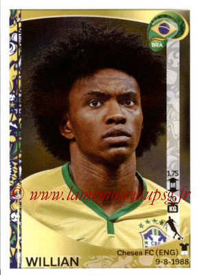 Panini Copa America Centenario USA 2016 Stickers - N° 122 - WILLIAN (Brésil)