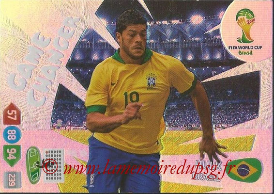 2014 - Panini FIFA World Cup Brazil Adrenalyn XL - N° 391 - HULK (Brésil) (Game Changer)