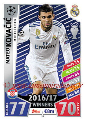 2017-18 - Topps UEFA Champions League Match Attax - N° 013 - Mateo KOVACEVIC (Real Madrid CF)