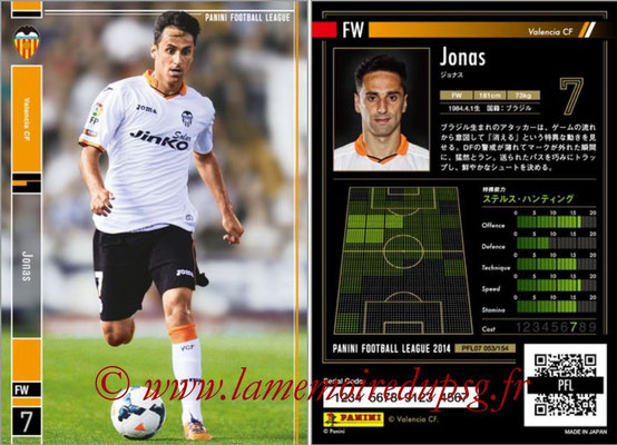 Panini Football League 2014 - PFL07 - N° 053 - JONAS (FC Valence)