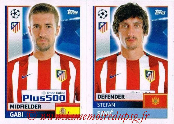 2016-17 - Topps UEFA Champions League Stickers - N° ATL 10-11 - Stefan SAVIC + GABI (Club Atletico de Madrid)