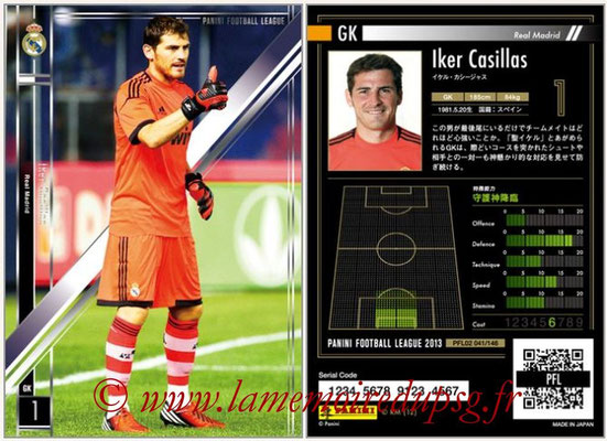 Panini Football League 2013 - PFL02 - N° 041 - Iker Casillas ( Real Madrid )