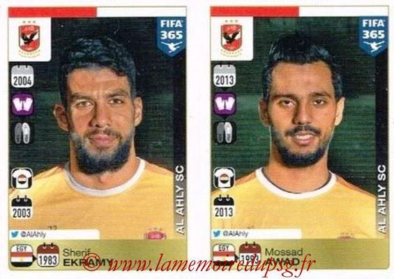2015-16 - Panini FIFA 365 Stickers - N° 282-283 - Sherif EKRAMY + Mossad AWAD (Al Ahly SC)