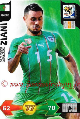 2010 - Panini FIFA World Cup South Africa Adrenalyn XL - N° 002 - Karim ZIANI (Algerie)
