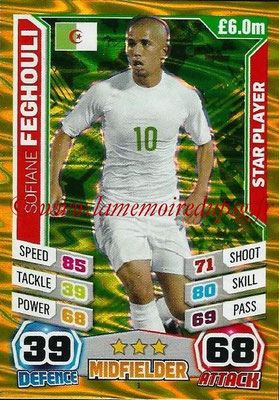 Topps Match Attax England 2014 - N° 001 - Sofiane FEGHOULI (Algérie) (Star Player)