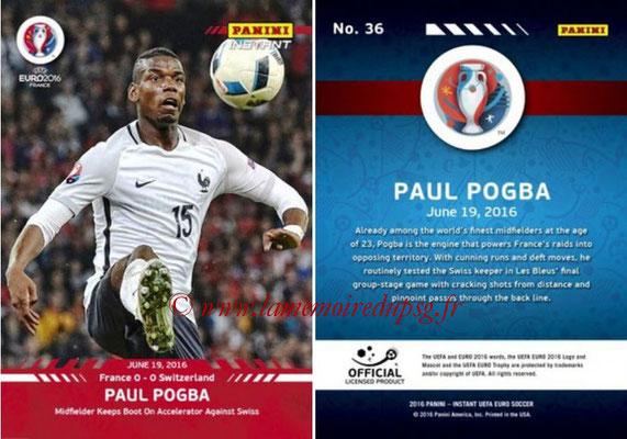 Panini Instant Euro 2016 - N° 036 - Paul POGBA