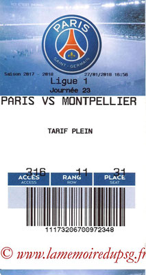 Tickets  PSG-Montpellier  2017-18