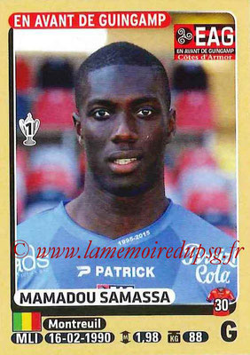 2015-16 - Panini Ligue 1 Stickers - N° 123 - Mamadou SAMASSA (EA Guingamp)