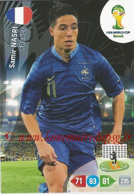 2014 - Panini FIFA World Cup Brazil Adrenalyn XL - N° 165 - Samir NASRI (France)