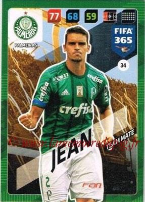 2017-18 - Panini FIFA 365 Cards - N° 034 - JEAN (Palmeiras)