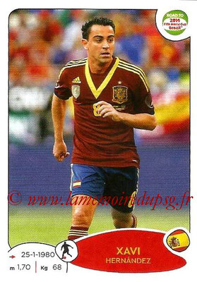 2014 - Panini Road to FIFA World Cup Brazil Stickers - N° 136 - Xavi HERNANDEZ (Espagne)
