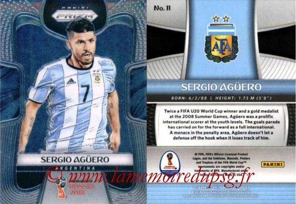 2018 - Panini Prizm FIFA World Cup Russia - N° 011 - Sergio AGUERO (Argentine)