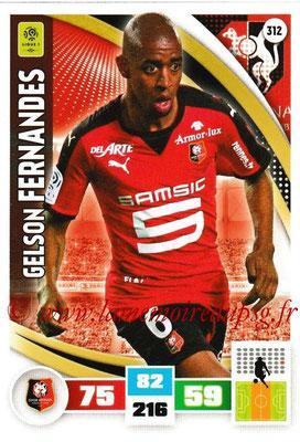 2016-17 - Panini Adrenalyn XL Ligue 1 - N° 312 - Gelson FERNANDES (Rennes)