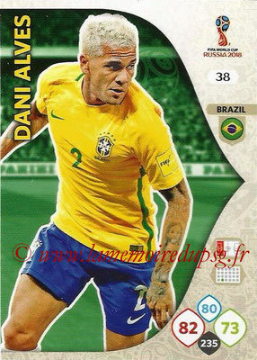 2018 - Panini FIFA World Cup Russia Adrenalyn XL - N° 038 - Dani ALVES (Brésil)