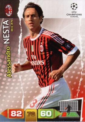 2011-12 - Panini Champions League Cards - N° 159 - Alessandro NESTA (Milan AC)