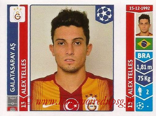2014-15 - Panini Champions League N° 293 - Alex TELLES (Galatasaray AS)