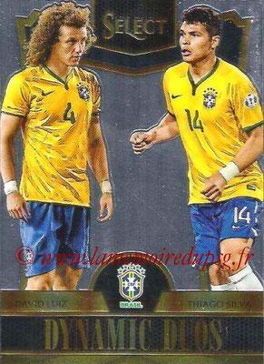2015 - Panini Select Soccer - N° DD03 - David LUIZ + Thiago SILVA (Brésil) (Dynamic Duos)