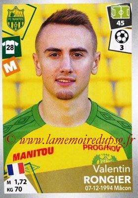 2017-18 - Panini Ligue 1 Stickers - N° 326 - Valentin RONGIER (Nantes)