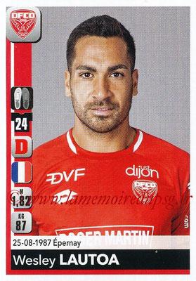 2018-19 - Panini Ligue 1 Stickers - N° 107 - Wesley LAUTOA (Dijon)