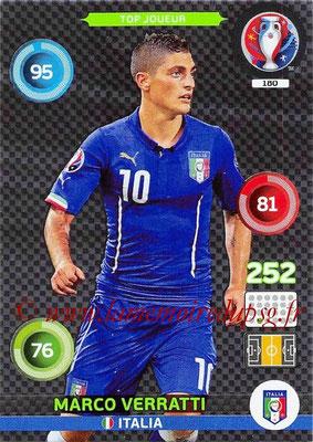 Panini Euro 2016 Cards - N° 180 - Marco VERRATTI (Italie) (Top Joueur)
