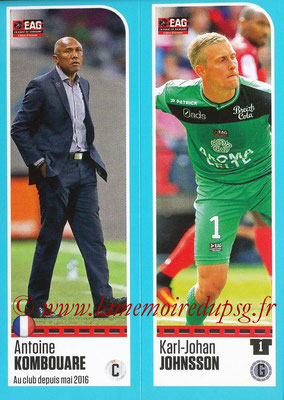 2016-17 - Panini Ligue 1 Stickers - N° 218 + 219 - Antoine KOMBOUARE + Karl-Johan JOHNSSON (Guingamp)