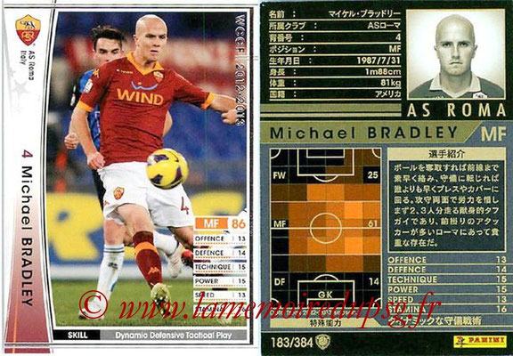 2012-13 - WCCF - N° 183 - Michael BRADLEY (AS Roma)