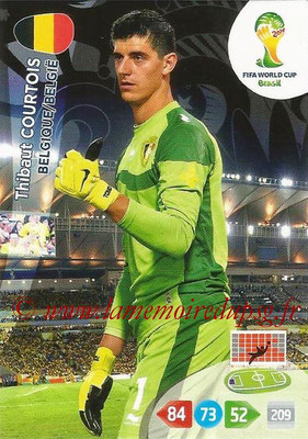 2014 - Panini FIFA World Cup Brazil Adrenalyn XL - N° 026 - Thibaut COURTOIS (Belgique)