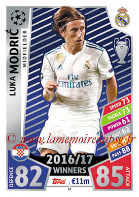 2017-18 - Topps UEFA Champions League Match Attax - N° 011 - Luka MODRIC (Real Madrid CF)