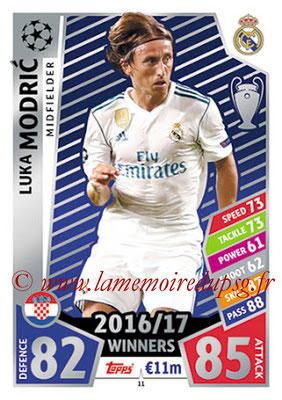 2017-18 - Topps UEFA Champions League Match Attax - N° 011 - Luka MODRIC (Real Madrid CF)