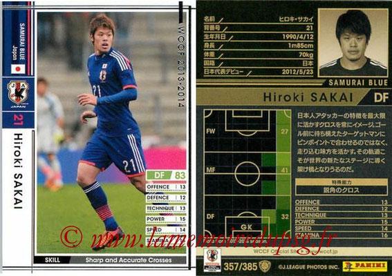 2013-14 - WCCF - N° 357 - Hiroki SAKAI (Japon)