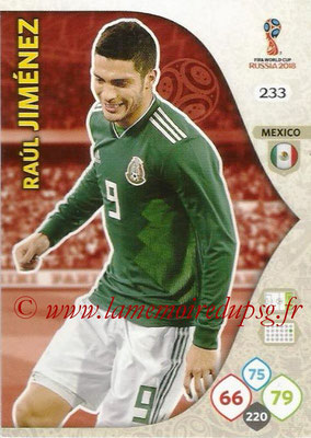 2018 - Panini FIFA World Cup Russia Adrenalyn XL - N° 233 - Raul JIMENEZ (Mexique)